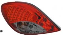 Фонарь задний левый+правый (комплект, тюнинг, с диодами, красный, тонированный)