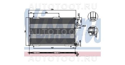 Радиатор кондиционера Peugeot 206 2003-2010 год / I