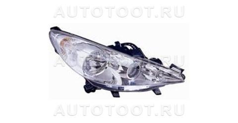 Фара правая (с электрокорректором, с противотуманкой) Peugeot 207 2006-2010 год / I