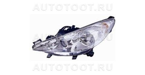 Фара левая (с электрокорректором, с противотуманкой) Peugeot 207 2006-2010 год / I