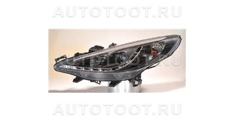 Фра левая+правая (комплект, тюнинг, линзованная, без пртивотуманки, внутри черная) Peugeot 207 2006-2010 год / I