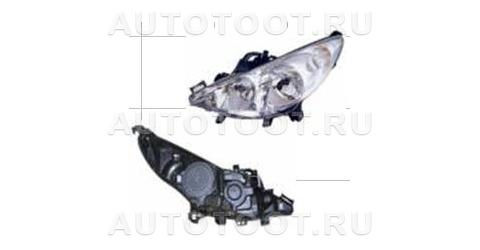 Фара левая (с электрокорректором, без противотуманки) Peugeot 207 2006-2010 год / I