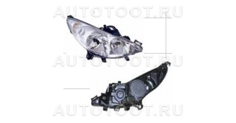 Фара правая (с электрокорректором, без противотуманки) Peugeot 207 2006-2010 год / I