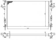 Радиатор охлаждения МТ 1.6-1.9L