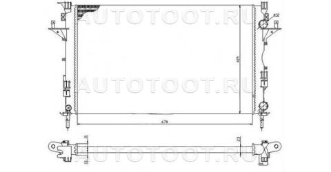 Радиатор охлаждения МТ 1.6-1.9L Renault Laguna 2001-2005 год / II