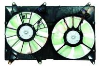 Диффузор радиатора охлаждения в сборе (рамка+мотор+вентилятор) LEXUS RX400 2003-2008 год / U3