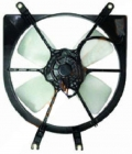 Диффузор радиатора в сборе (рамка+мотор+вентилятор) HONDA HR-V 1998-2005 год / GH