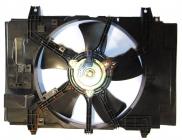Диффузор радиатора охлаждения в сборе (рамка+мотор+вентилятор) NISSAN TIIDA 2004-2007 год / C11