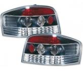 Фонарь задний левый+правый (тюнинг, комплект, 3-х дверный хэтчбэк, хром-черный) AUDI A3 2003-2005 год / 8P,9P