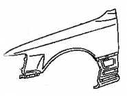Крыло переднее левое LEXUS LS400 1991-1994 год / UCF10