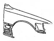 Крыло переднее правое LEXUS LS400 1991-1994 год / UCF10