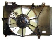 Диффузор радиатора в сборе (рамка, мотор, вентилятор) MAZDA 2 (DEMIO)  2010-2014 год / DE