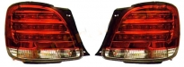 Фонарь задний левый + правый (комплект, тюнинг, диодный, красный) LEXUS GS300 1998-2005 год / JZX16