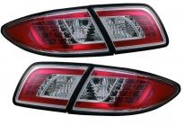 Фонарь задний левый+правый+вставка в крышку багажника левая+правая (комплект, тюнинг, седан, прозрачный, с диодами, внутри красный-хром) MAZDA 6 (ATENZA) 2002-2005 год / GG, GY