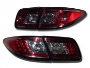 Фонарь задний левый+правый+вставка в крышку багажника левая+правая (комплект, тюнинг, прозрачный, с диодами, внутри красный-черный) MAZDA 6 (ATENZA) 2002-2005 год / GG, GY