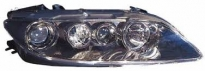 Фара правая (с противотуманкой, с электрокорректором, внутри черная) MAZDA 6 (ATENZA) 2005-2007 год / GG, GY