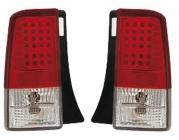 Фонарь задний левый+правый (комплект, тюнинг, красный, диодный) TOYOTA BB 2000-2005 год / NCP3