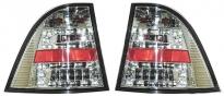 Фонарь задний левый+правый (комплект, тюнинг, прозрачный, диодный, внутри хром) MERCEDES ML-CLASS 1998-2001 год / W163