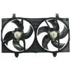 Диффузор радиатора охлаждения в сборе (мотор+рамка+вентилятор) NISSAN ALMERA 2000-2002 год / N16