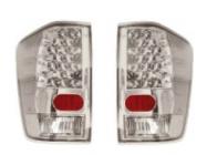 Фонарь задний левый+правый (комплект, тюнинг, прозрачный, с диодами, внутри хром) NISSAN TITAN 2004-2007 год / P32