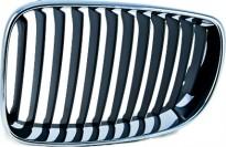 Решетка радиатора левая (темно-серая) BMW 1SERIES 2006-2011 год / Е87