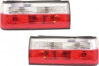 Фонарь задний левый+правый (комплект, тюнинг, хрусталь, красно-белый) BMW 3SERIES 1987-1991 год / Е30