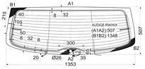 Стекло заднее (крышка багажника) с обогревом AUDI Q5 2008-2012 год / I