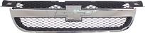 Решетка радиатора (седан, черная с хромом) CHEVROLET AVEO 2006-2008 год / Т250