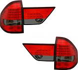 Фонарь задний левый+правый+вставка в крышку багажника левая+правая (комплект, тюнинг, с диодами, внутри красный-тонированный) BMW X3 2003-2006 год / Е83