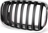 Решетка радиатора правая (хром, черная) BMW X6 2008-2014 год / E71