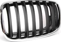 Решетка радиатора левая (хром, черная) BMW X6 2008-2014 год / E71