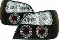 Фонарь задний левый+правый (комплект, тюнинг, седан, прозрачный, с диодами, внутри черный-хромированный) SUBARU IMPREZA  2000-2002 год / GD, GG