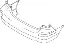 Бампер задний (хэтчбек)  SUZUKI LIANA 2003-2007 год / R, 1S