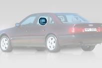Стекло заднее левое опускное AUDI A6 1994-1997 год / C4