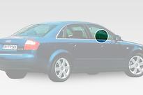 Стекло переднее правое опускное AUDI A4 2001-2004 год / B6