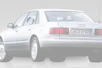Стекло заднее левое опускное (триплекс) AUDI A8 1994-1999 год / D2