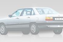 Стекло переднее левое опускное AUDI 100 1982-1990 год / C3,44