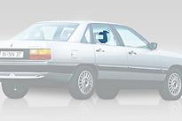 Стекло заднее правое опускное AUDI 100 1982-1990 год / C3,44