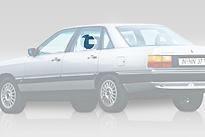 Стекло заднее левое опускное AUDI 100 1982-1990 год / C3,44