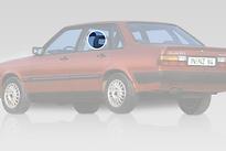 Стекло заднее левое опускное AUDI 80 1978-1984 год / B2