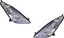 Фара левая+правая (комплект, тюнинг, линзованная, с 2 светящимися ободками, внутри хром) TOYOTA CELICA 1999-2002 год / ZZT230