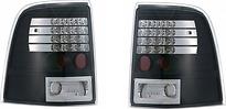 Фонарь задний левый+правый (комплект, прозрачные, диоды, внутри черные с хромом) FORD EXPLORER 2001-2005 год / III