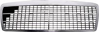 Решетка радиатора (серая-хром) MERCEDES E-CLASS 1995-1998 год / W210