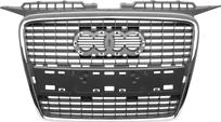 Решетка радиатора (хром, черная) AUDI A3 2003-2005 год / 8P,9P