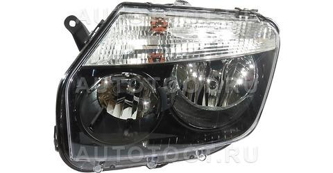 Фара левая (под корректор, внутри черная) Renault Duster 2010-2014 год / I