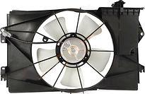 Диффузор радиатора охлаждения в сборе (мотор+рамка+вентилятор) TOYOTA COROLLA SPACIO 2001-2007 год / ZE12