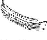 Бампер передний (до 97 г.в) LEXUS LS400 1994-2000 год / UCF20