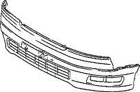 Бампер передний  LEXUS LS400 1994-2000 год / UCF20