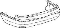 Бампер задний LEXUS LS400 1994-2000 год / UCF20