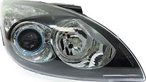 Фара правая (под корректор, внутри черная) HYUNDAI I30 2007-2011 год / I